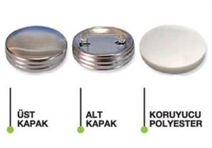 - İğneli Rozet Metal Arka 37 MM(100ad.)