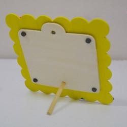 - Ahşap Mıknatıslı Sarı Çocuk Çerçevesi (1)