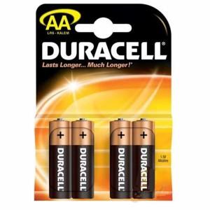 - Duracell AA Alkalin Kalem Pil 4ad.