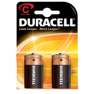 - Duracell C Alkalin Orta Pil 2ad.