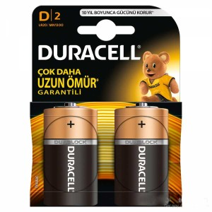 - Duracell D Alkalin Büyük Pil 2ad.