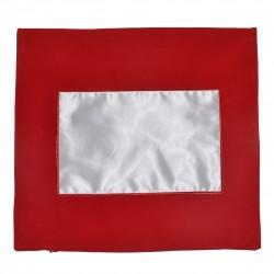 - Düz Kırmızı Kare Yastık Kılıfı
