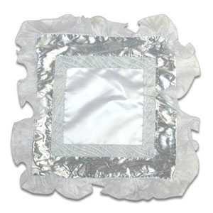 - Fırfırlı Bordürlü Gümüş Yastık Kılıfı