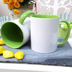 - İçi Ve Sapı Yeşil Renkli Kupa Bardak (1)