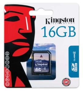 - Kingston Sd 16GB Hafıza Kartı