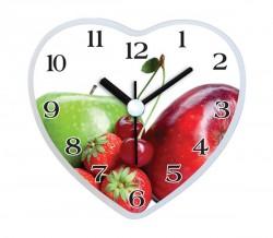 - Mıknatıslı Buzdolabı Saati Kalp