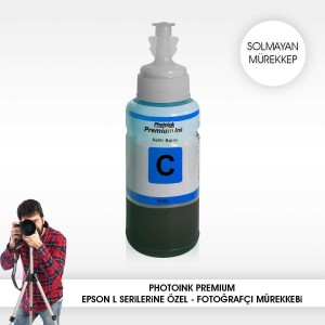 - Photo İnk Epson Uyumlu Solmayan Mürekkep(Cyan)