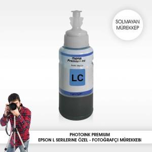 - Photo İnk Epson Uyumlu Solmayan Mürekkep(Light Cyan)