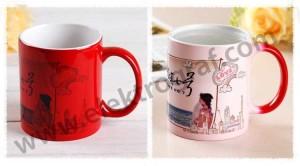 - Porselen Mat Sihirli Kırmızı Kupa Bardak (1)