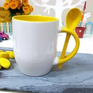 - Sarı Kaşıklı Kupa Bardak
