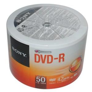 - Sony DVD-R 50AD.