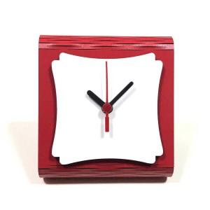 - Sublimasyon (Hdf) Mdf Masa Saati MS-09 Kırmızı (1)