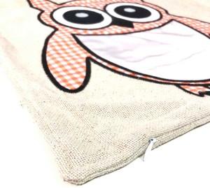 - Sublimasyon Keten Baykuş Yastık Turuncu (1)