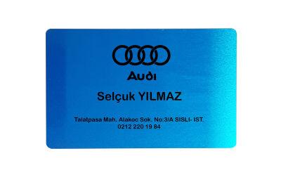 Sublimasyon Metal Kartvizit Mavi