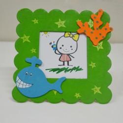 - Ahşap Mıknatıslı Yeşil Çocuk Çerçevesi