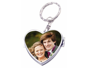 - Cep Aynası Metal Anahtarlık Kalp