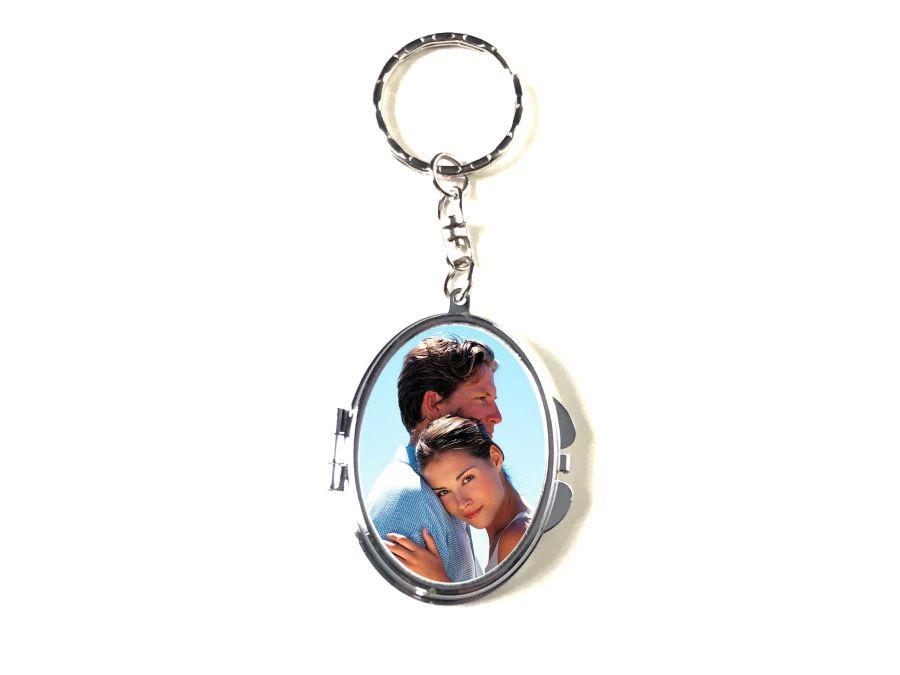 - Cep Aynası Metal Anahtarlık Oval