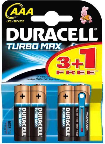 - Duracell AA Turbo Alkalin Kalem Pil 4ad.