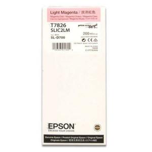 - Epson T7826 D700 Mürekkep Açık Kırmızı
