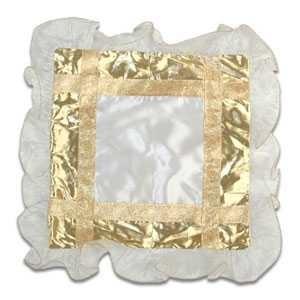 - Fırfırlı Bordürlü Altın Yastık Kılıfı