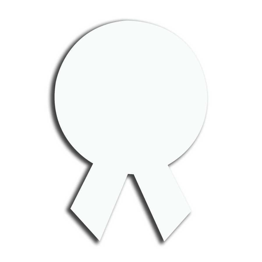 (Hdf) Mdf Yaka İsimlik Kurdela 3,5x5cm