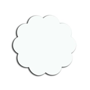 (Hdf) Mdf Yaka İsimlik Papatya 4,5x4,5cm - Thumbnail