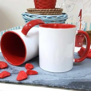 - İçi Ve Sapı Kırmızı Renkli Kupa Bardak (1)