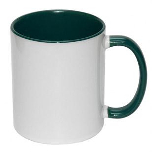 - İçi Ve Sapı Koyu Yeşil Kupa Bardak