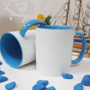 - İçi Ve Sapı Mavi Renkli Kupa Bardak (1)