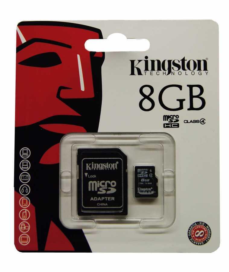 Kingston Micro Sd 8GB Hafıza Kartı