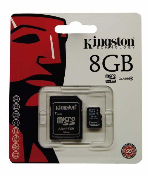 - Kingston Micro Sd 8GB Hafıza Kartı