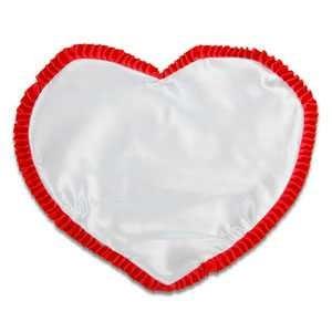 - Kırmızı Fırfırlı Kalpli Yastık Kılıfı
