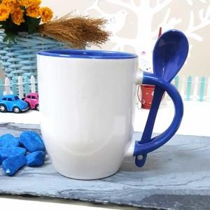 - Mavi Kaşıklı Kupa Bardak