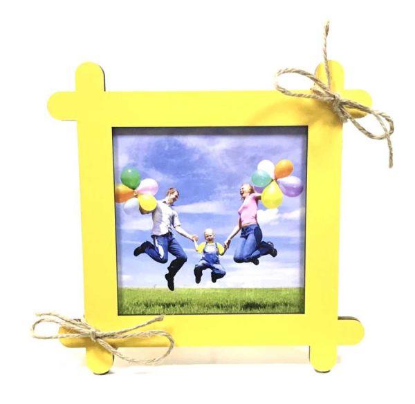 - Mdf Çubuk Fotoğraf Çerçevesi Sarı