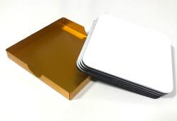 Metal Bardak Altı Set - Thumbnail