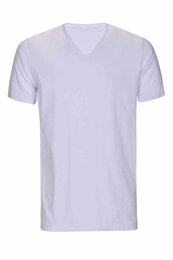 Micro Polyester V Yaka T-shirt (ERKEK) XXL