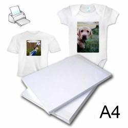 - Pamuklu Açık Zemin Tekstil Transfer Kağıdı A4