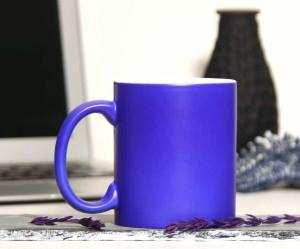 - Porselen Mat Sihirli Mavi Kupa Bardak
