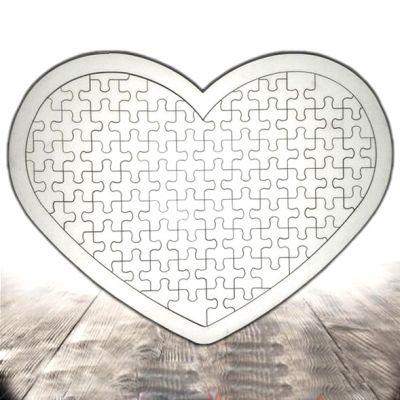 - Ahşap Puzzle A4 Kalp (1)