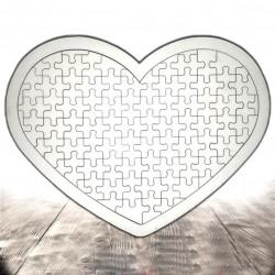 - Ahşap Puzzle A3 Kalp