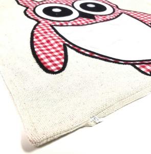 - Sublimasyon Keten Baykuş Yastık Kırmızı (1)