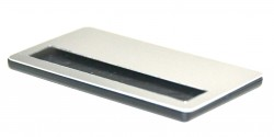 - Metal Yaka İsimlik Gümüş 3,5x7cm (1)