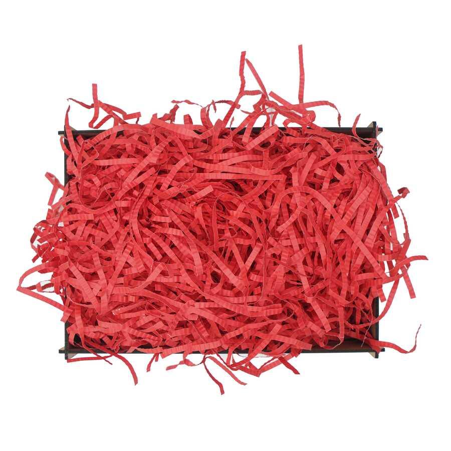 Z Zigzag Kırpık Kağıt Pelur Kağıt Kırmızı 1000 gr.